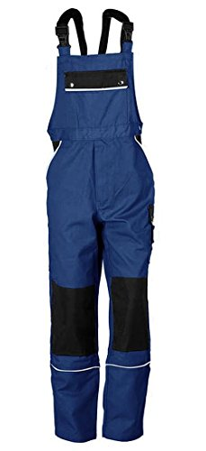 TMG Latzhose Arbeitshose Berufsbekleidung Übergrößen blau Gr. 64