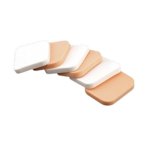TOOGOO(R) 6 Eponge Houppe pour Poudre Fond de Teint Maquillage Demaquillage