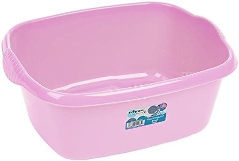 Large Rectangular Washing-up Bowl - Baby Light Pink