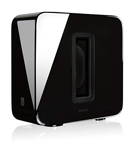 Sonos sub subwoofer wireless, integrabile ai sistemi sonos, nero lucido