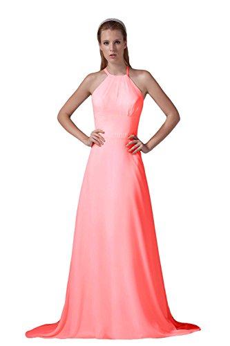 Bridal_Mall - Robe - Trapèze - Sans Manche - Femme - Wassermelone
