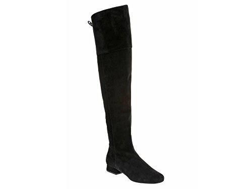 Saint-Laurent-BB-black-suede-over-the-knee-boots-Model-number-438285-C2000-1000