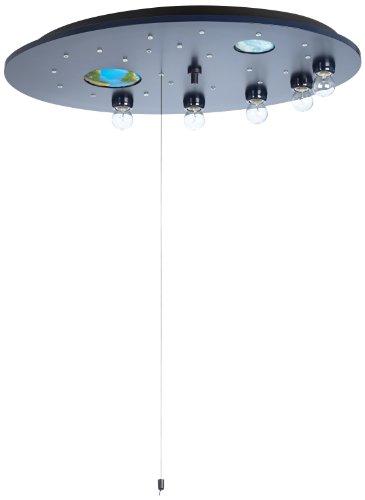 Niermann-Standby 655 - Deckenleuchte Weltall blau inklusive Leuchtmittel: 5 x E14 max. 40 Watt und 20 x 1,1 Watt Lichtpunkte, ca. 54 x 74 x 12 cm