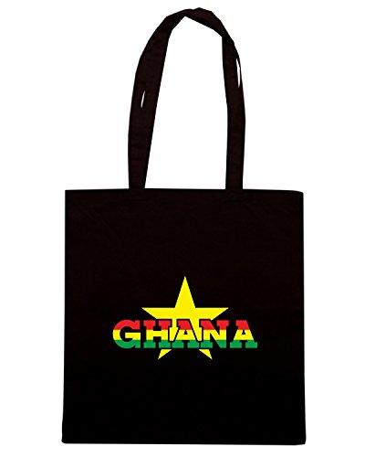 T-Shirtshock - Borsa Shopping T0715 GHANA calcio ultras Nero