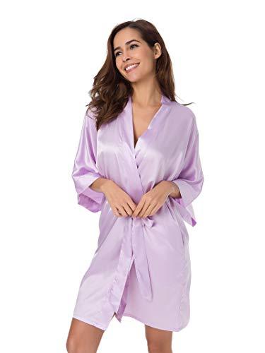 24d52c8ba SIORO Mujer satén Vestido Pijama Dama de Honor Vestido Pijama Suaves Ropa  Dormir Camisón Lencería Corto