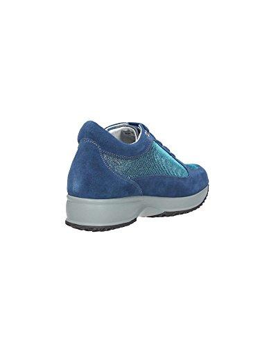 Zapatos De Mujer Lumberjack En Ante Azul Con Detalles De Purpurina De Avio