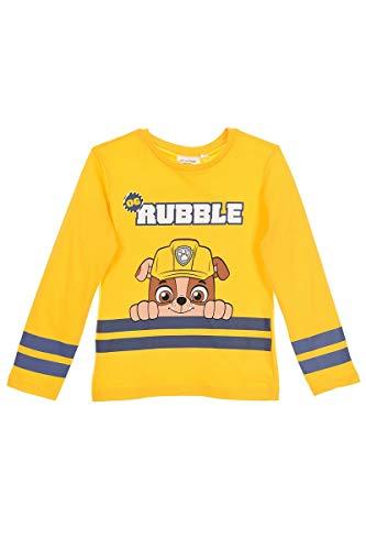 Paw Patrol Jungen Langarmshirt Sweatshirt Pullover (Gelb 2, Größe 110 (Hestellergröße 5 Jahre))