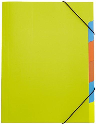 Pagna 41803-17 Ordnungsmappe, Funky School Trend PP, 5-teilig, grün