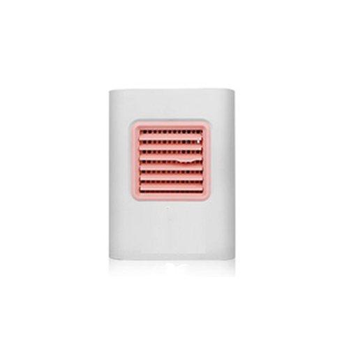 Luftkühler Mini Klimaanlage Ventilator Air Cooler mit Luftreiniger Befeuchter Wasserkühlung, Mini Klimagerät ohne Abluftschlauch für Büro, zu Hause, Camping usw. (Rosa)