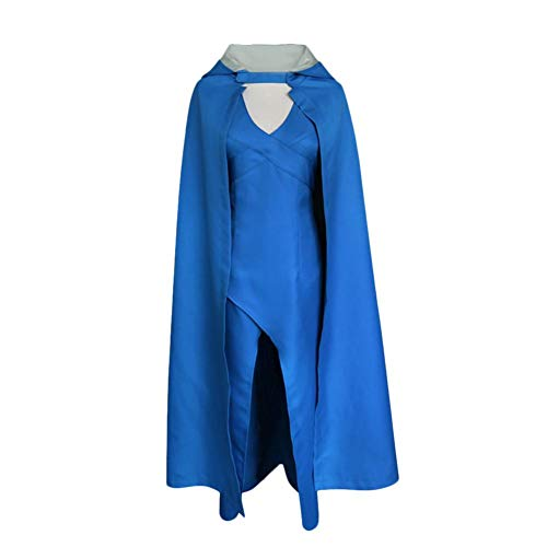 Game of Thrones Daenerys Targaryen Dress Party Kleid Cosplay Kostuem Blau (Daenerys Blau Kleid Kostüm)