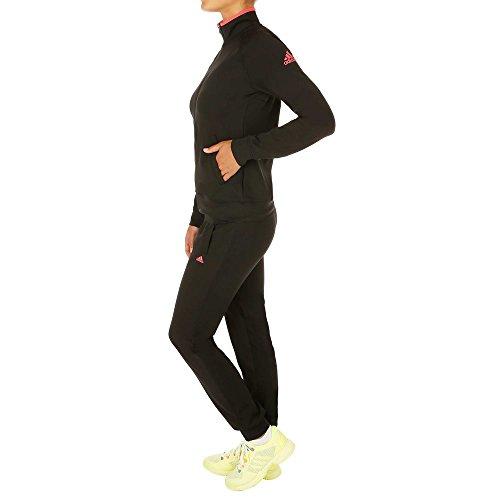 Adidas Logo Suit Damen Trainingsanzug, Schwarz/Pink M schwarz / rosa