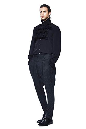 Kostüm Schottland Mittelalterlichen - Mittelalterliche Retro Barocke Art Ritter Hose Herren, Schwarze Weinlese Punkharem Cocktail Partei Im Freien Cosplay Kostüm Hosen Für Männer