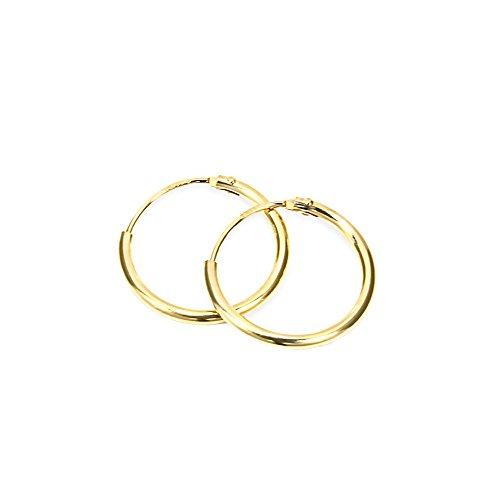 NKlaus PAAR 750 gelb GOLD 18K gestempelt Creolen Ohrringe Ohrhänger Ohrstecker 13mm 1756