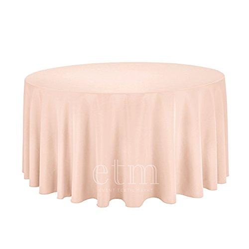 Runde Tischdecke 300 cm weiss, creme ivory, blush puder, cappucino, schwarz 300cm Polyester - blush / puder (Runde Party Tischdecke)