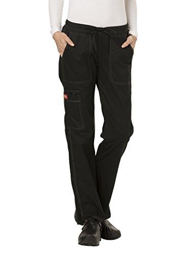 Gen Flex Frauen Low Rise Straight Leg Scrub Hose X-Large Petite Schwarz (Petite Low-rise-scrub-hose)