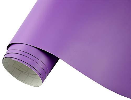 Neoxxim 4€/m² Auto Folie matt - lila matt 400 x 150 cm Klebefolie Dekor Folie dehnbar auch für Möbel