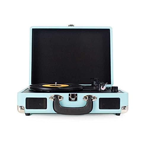 Oferta de PRIXTON VC400 - Tocadiscos de Vinilo Vintage, Reproductor de Vinilo y Reproductor de Musica Mediante Bluetooth y USB, 2 Altavoces Incorporados, Diseño de Maleta, Color Azul