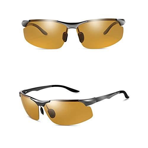 GXM-FR Sonnenbrillen, Smart Photochromic Polarized Goggles für Herren, 100% UV-Schutz für den Außenbereich, Entblendung, Verringerung der Ermüdungserscheinungen der Augen