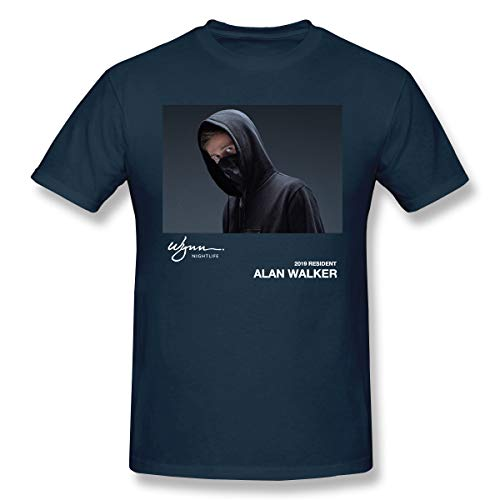 Ngrongk Alan Walker On My Way Herren Cool Schule Tee Navy 3XL