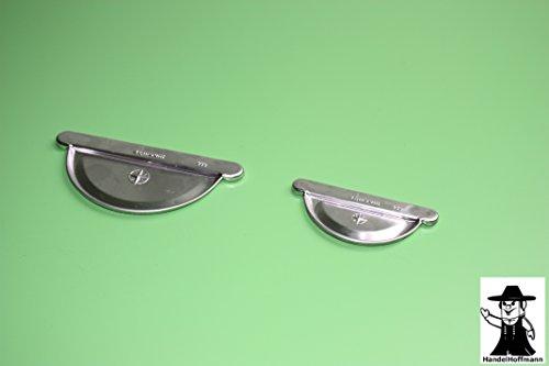 Rinnenboden Rinnendeckel Titanzink 3 Größen (klein- für Dachrinne 8 TLG RG 100 NG 250)