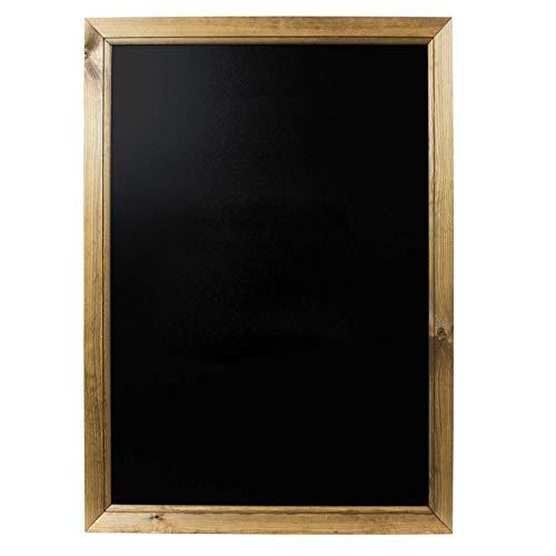 Chalkboards UK - Pizarra enmarcadas con Madera de Roble Oscuro, Madera, Color Negro, Madera, Negro, A1 (87 x 62.5 x 1.5cm)