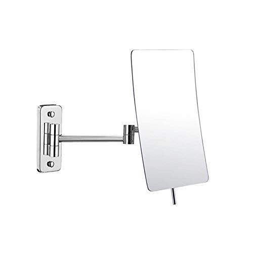 BEI&YANG Baño Montado En La Pared Espejo Aumento Triple Espejo De Maquillaje De Doble Cara Espejo Telescópico...