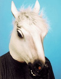 Pferd Kostüm Weißes - Orlob Maske Schimmel Tiermaske weißes Pferd zum Kostüm Karneval Fasching