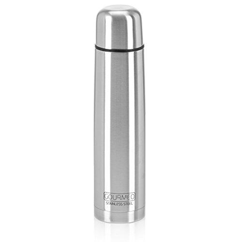 GOURMEO SC-241, Thermos in acciaio inox, Doppia Parete con chiusura a bottone...
