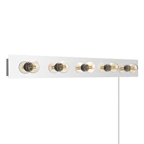 Modern-Hollywood-Broadway-Style-5-Way-Polished-Chrome-Plug-In-Mirror-Wall-Light-Surround