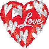 Amscan Internacional XL-globo, imagen rotada corazón, en forma de corazón