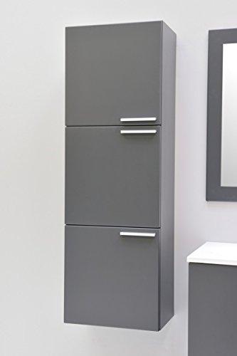 Badmbel-Hochschrank-Midischrank-Hngeschrank-Badezimmer-Graphite-Matt-vormontiert