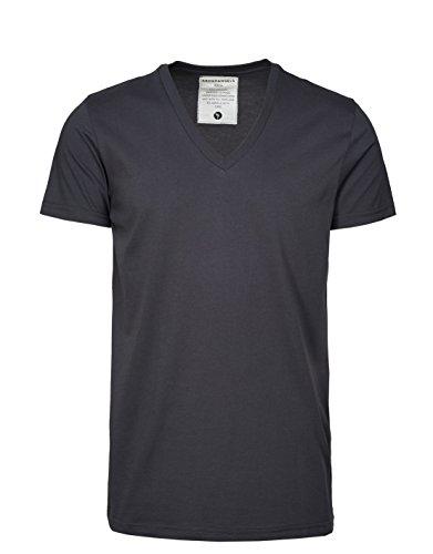 ARMEDANGELS Herren T-Shirt aus Bio-Baumwolle - Charlie - GOTS, ORGANIC, CERES-008 Acid Black