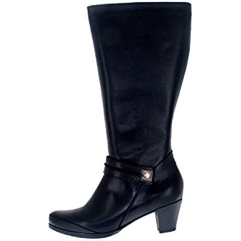 Calzado mujer confort de piel Piesanto 5835 bota cómodo ancho