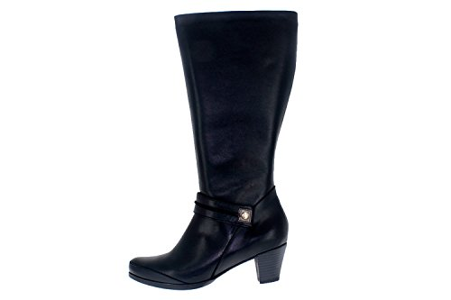 Scarpe donna comfort pelle Piesanto 5835 stivalli casual comfort larghezza speciale Negro