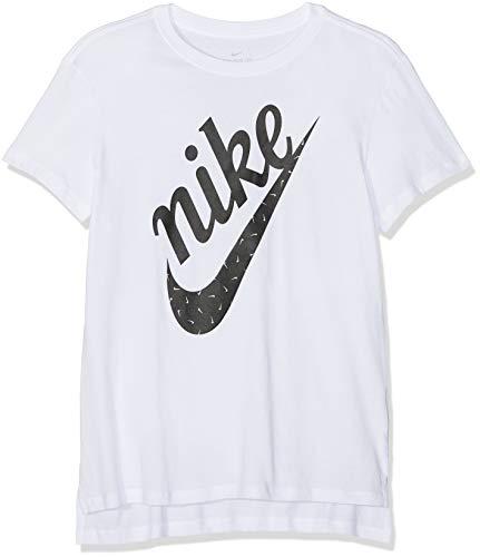 Nike Mädchen Icon Futura T-Shirt, White, M -