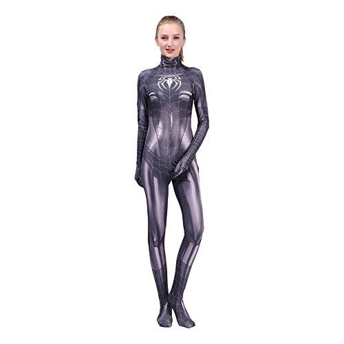 SEJNGF Weibliche Spiderman Kleidung Schwarze Siamese Strumpfhose Cosplay Halloween Charakter Performance Kostüm (Keine Kopfbedeckung),Adult-M