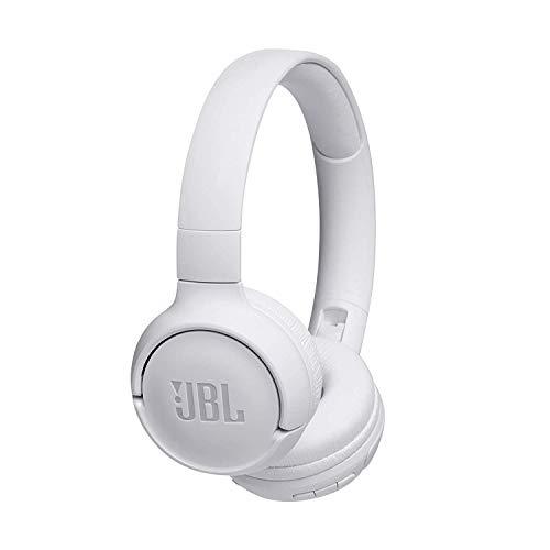 JBL Tune500BT Cuffie Wireless Sovraurali con Funzione Multipoint e Ricarica Veloce Cuffie On-Ear Bluetooth con Connessione a Siri e Google fino a 16 h di Autonomia, Bianco