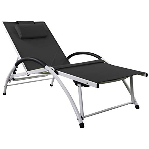 ASS Gartenliege Sonnenliege Fitnessliege Bauchmuskeltrainer stabile Aluminium Konstruktion mit...