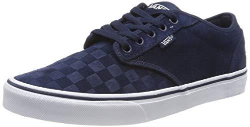 Vans Herren Atwood Suede Sneaker, Blau Emboss Dress Blues/White Uyi, 44.5 EU (Vans Suede Blue)
