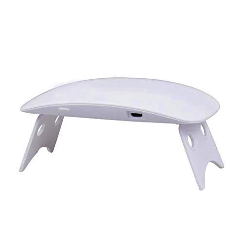Lámpara de curado del secador de uñas LED de luz UV de 6 vatios para pulimentos a base de gel de uñas y uñas de los pies, temporizador 60s, portátil USB para lámpara de uñas,White