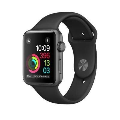 Apple Watch Series 1, 42mm Boîtier en aluminium, Space Gris, avec bracelet Sport, noir