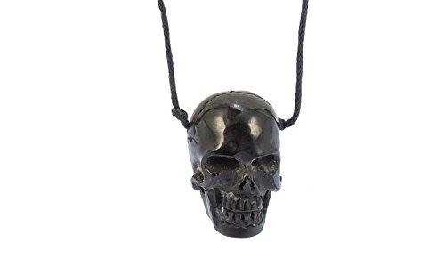 Erlebnis-Mittelalter Bone-Kette Knochenkette (Bone-Kette Totenkopf dunkel)
