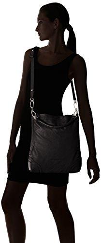 Liebeskind Berlin Tokio vintag, Sacs portés épaule Noir - Schwarz (ninja black 9998)