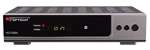 Opticum HD X300s HDTV-Satellitenreceiver (Full HD 1080p, HDMI, USB, S/PDIF CoXial, Scart) silber