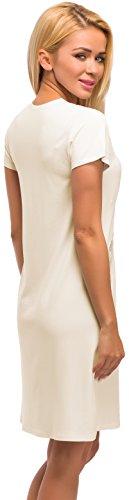 Merry Style Camicia da Notte per Donna Modello 911 Ecru