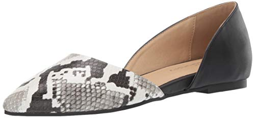 CL by Chinese Laundry Damen Hearty, Off White/Black Snake, 38 EU Chinese Laundry Ballerinas