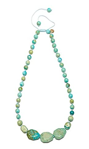 Lola Rose Ipanema Short Faceted Nugget Lime Butter Calcite Necklace of Length 50-70cm