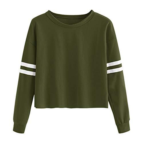 TianWlio Frauen Langarmshirt Bluse Hoodie Pullover Langarmshirt Kapuzenpullover -