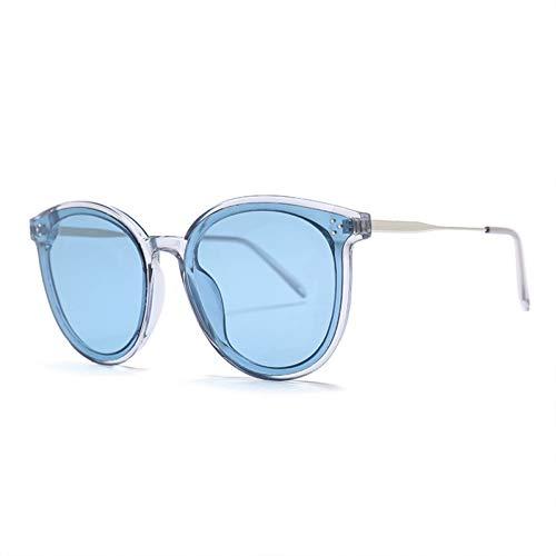 sijiaqi Unisex SonnenbrilleMode Big Round Sungalsses Trendy Farbverlauf Transparent Kunststoff Shades Frauen Männer Eyewear,Style 4