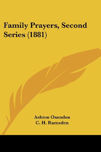 Family Prayers, Second Series (1881)
